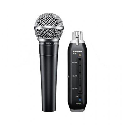 Microphone avec adaptateur XLR à USB Shure SM58-X2U